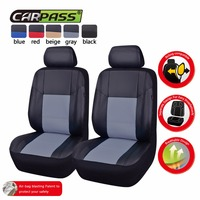 New Design Full PU Leather Car Seat Covers Front 2 Seat Covers For Universal Car