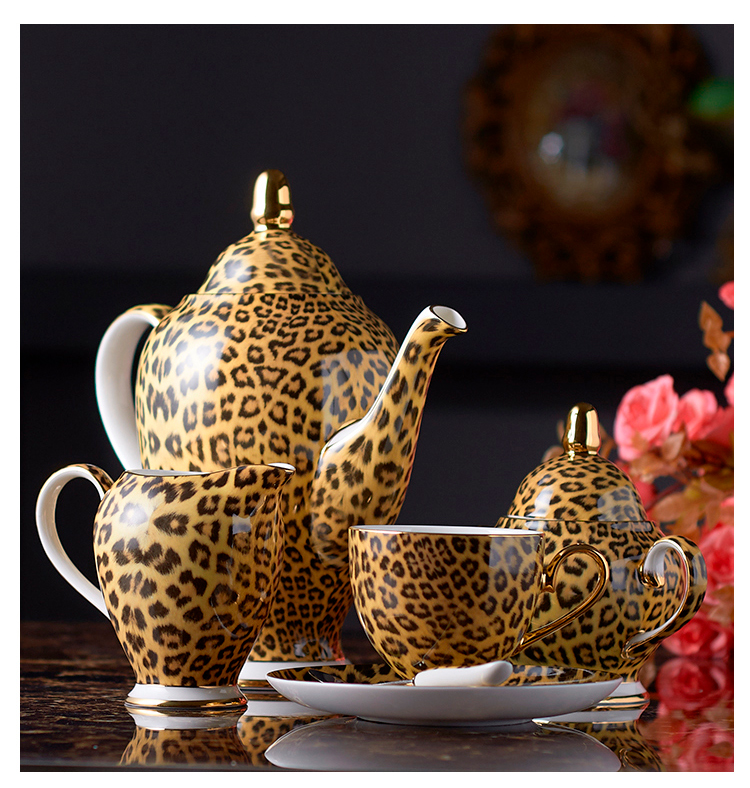 Leopard Print Bone China Coffee-Tea