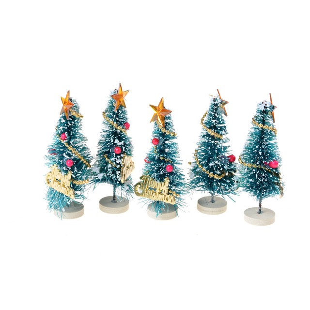 hot sale mini snow christmas tree decor christmas decorations for home small pine trees christmas decoration