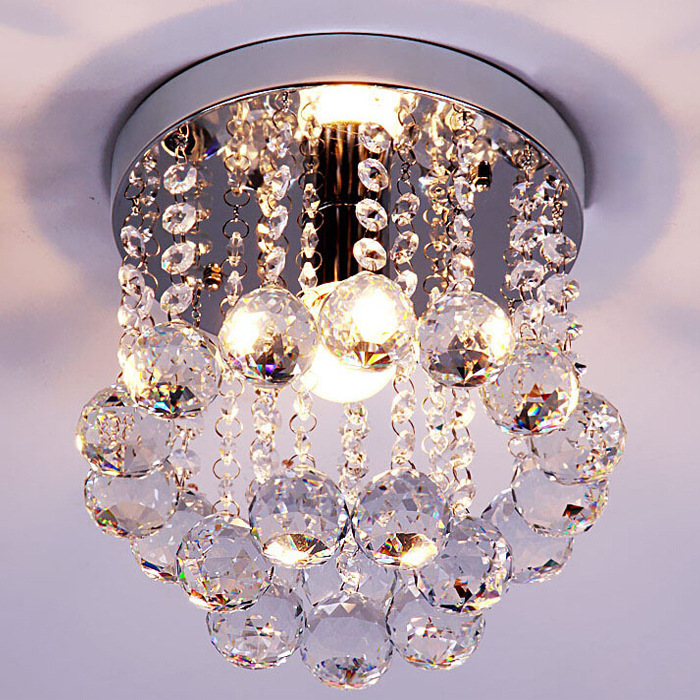 Modern Creative LED Crystal Lamp K9 Crystal Pendant Light Dining Room Living Room Hallway Crystal Light 220V/110V E14 WPL155 modern fashion luxurious rectangle k9 crystal led e14 e12 6 heads pendant light for living room dining room bar deco 2239