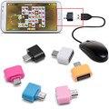 6 цветов Otg Адаптер Usb к Micro Usb 2.0 Конвертер для Samsung Для xiaomi android Мобильные Телефоны Keybord Мышь 2016 Новый # LWN