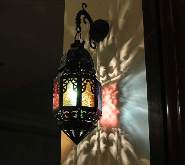 Free Shipping Antique Moroccan style Wall sconce lights , Wall Lamps Art  deco Hand Made(