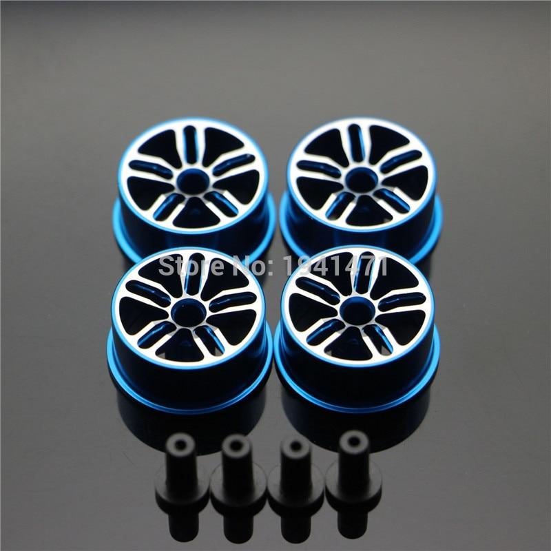 RFDTYGR keskihalkaisijaltaan kevyet pyörät itse valmistetut osat Tamiya MINI 4WD -väripyörälle, alumiinilevy L017 1Set / lot
