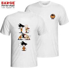 Super Goku And Saitama T-shirt Double Sided Casual Style Rock T Shirt Brand Creative Hip Hop Women Men Cotton Top