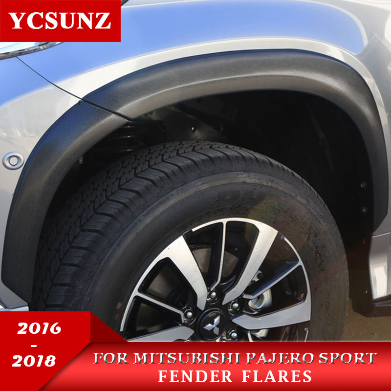 2016-2017 mudguards For Mitsubishi Pajero Sport Fender Flares For Mitsubishi Montero Sport Pajero 2017 fender Ycsunz цена 2017