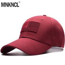 Gorra de béisbol de alta calidad Unisex 100% algodón al aire libre con  bandera levantada bordado Snapback sombreros deportivos d. 7beccea2f0a