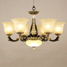 American LED chandelier living room suspended lamps restaurant luminaires copper fixtures Nordic lighting  bedroom hanging light american iron chandelier living room restaurant bedroom light black retro crystal light modern simple hanging lamps led lamps