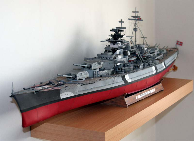 3D Paper Model WWII German Z1 Destroyer Battleship Ship Models