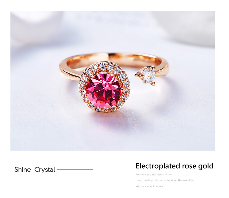 Pink Crystals Rose Gold Ring (11)