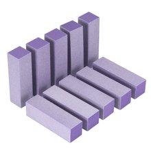 High Quality 10pcs Portable Buffer Acrylic Nail Beauty Art Sanding Block Files F