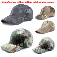 Urban Tactical python pattern printing leisure caps TYPHON MANDRAKE HIGHLANDE NOMAD Baseball Cap  Hunting Hat Kryptek camo