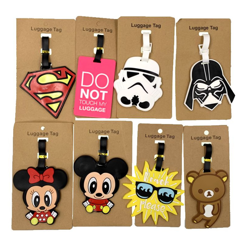 Travel Accessories Animal Cartoon Star Wars Luggage Tags Suitcase ID Addres Holder Baggage Boarding Silica Gel Portable Label