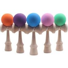1 шт. профессиональная резиновая краска Kendama матовый шар Kid Kendama Японская Традиционная игрушка деревянный шар умелая игрушка для детей