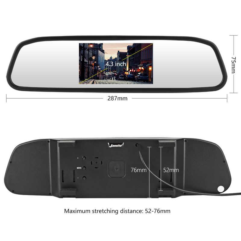 "Jmcq 4.3 ""Wireless Cermin Display Mobil Monitor TFT Pandangan Monitor Belakang Mobil Parkir Kaca Sistem + Malam Visi Reverse kamera"