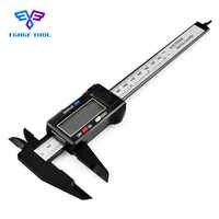 """FGHGF 150mm 6 """"étrier numérique électronique numérique pachomètre en Fiber de carbone Vernier étriers jauge micromètre outil de mesure"""