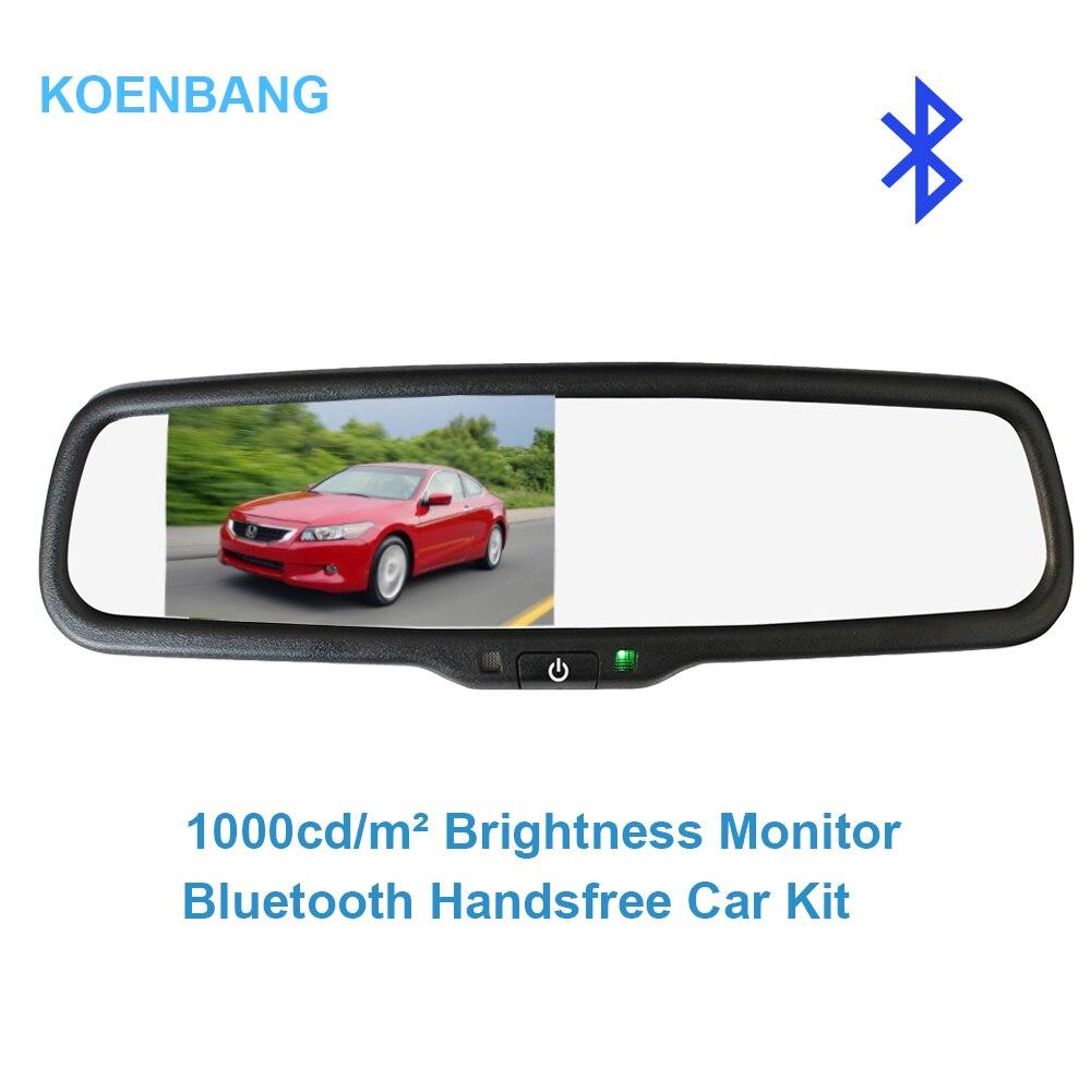 KOENBANG 4 3 TFT LCD Car Rear View Bracket Mirror Monitor Bluetooth Car Kit Parking Assistance