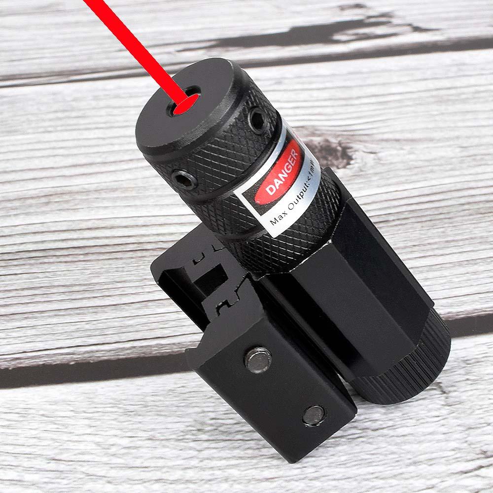 Powerful Tactical Mini Red Dot Laser Sight Scope Weaver Picatinny Mount Set for Gun Rifle Pistol Shot Airsoft Riflescope Hunting-0