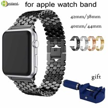 link Stainless Steel Strap for apple watch band 42mm/38mm/40mm/44mm bracelet watch band for iwatch bands series 4 3 2 1 strap sport strap for apple watch band 38mm 42mm40mm 44mm watch strap bracelet for iwatch 4 3 2 1 stainless steel wrist band link belt