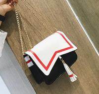 Sailor Moon Tassel With Gold Chain Bag Samantha Vega Luna Women Handbag 20th Anniversary Cat Ear