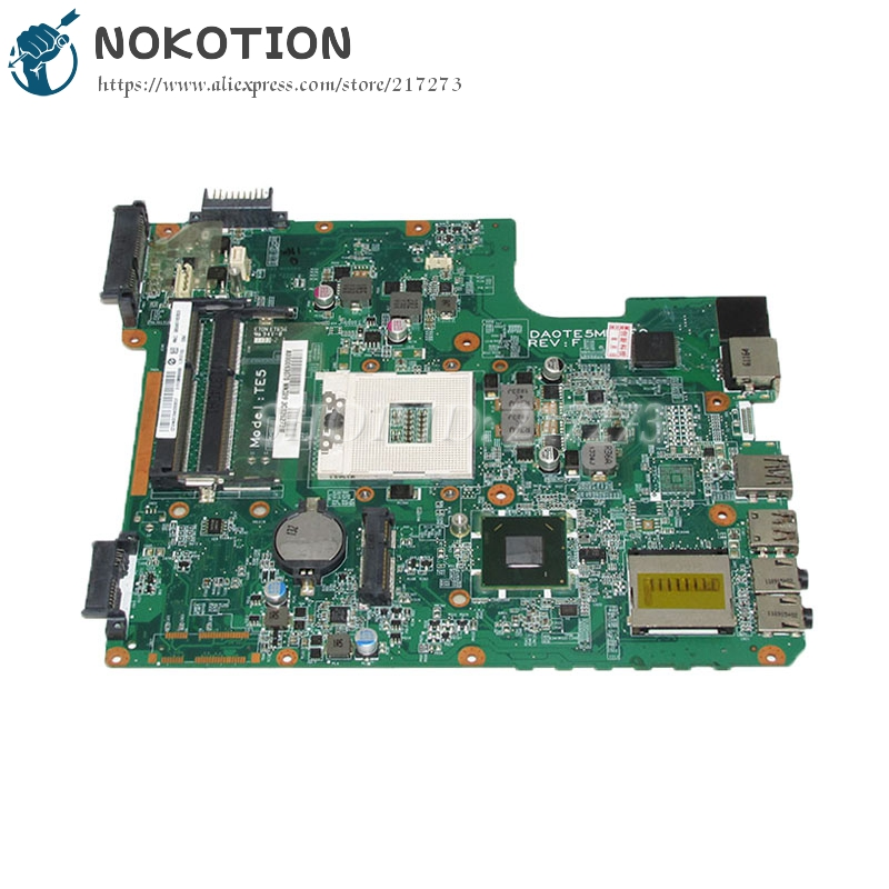 NOKOTION A000093070 DA0TE5MB6F0 Laptop Motherboard For Toshiba Satellite L745 Main Board 31TE5MB00G0 HM65 UMA DDR3 nokotion sps v000198120 for toshiba satellite a500 a505 motherboard intel gm45 ddr2 6050a2323101 mb a01