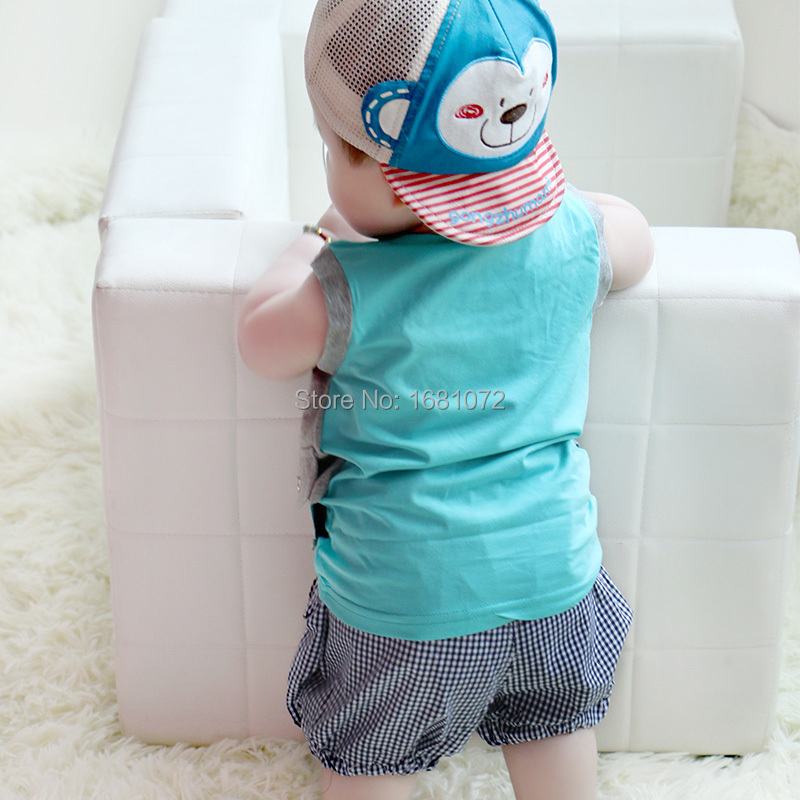 24267e0f1 6 12 months old infant clothes summer 0 1 year old baby boy set 1 2 years  old children's clothing baby clothes-in Clothing Sets from Mother & Kids on  ...