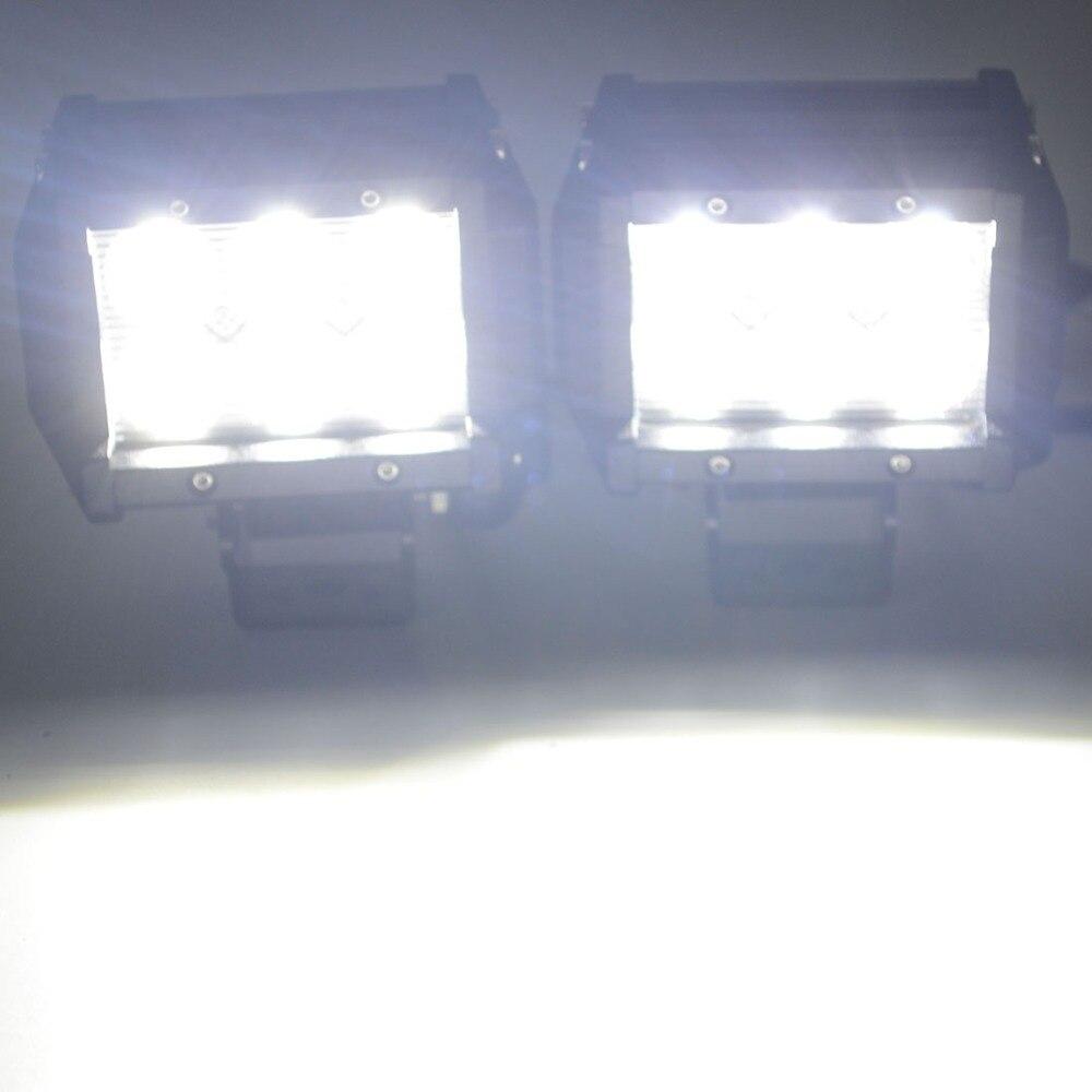 Safego 2pcs 4 düym Offroad LED İşıq Bar 4X4 18W Led İş lampası - Avtomobil işıqları - Fotoqrafiya 5