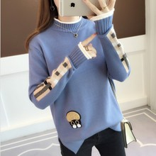 Winter Woman Loose Sweaters New Turtleneck Female Casual Solid Knitted Pullovers All-match Basic