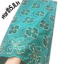 WorthSJLH Teal Africa Swiss Lace Fabric Cotton Nigeria Magenta African 2018 High Quality Material