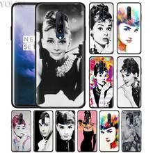 audrey hepburn pop art Phone Case for Oneplus 7 7Pro 6 6T Oneplus 7 Pro 6T Black Silicone Soft Case Cover