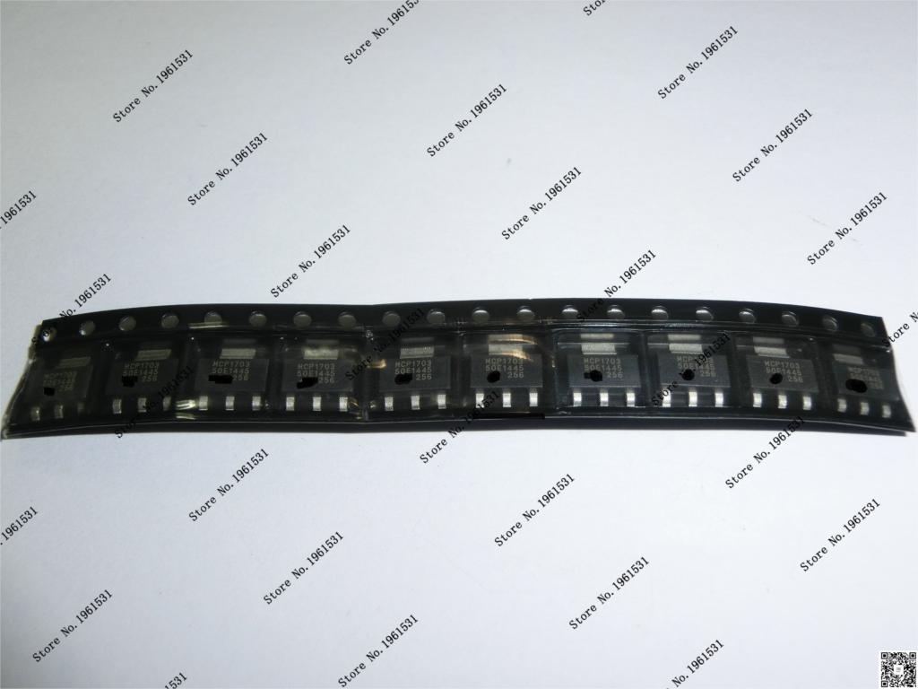 MCP1703T-5002E/DB MCP1703T-5002 MCP1703T MCP1703 1703 SOT223-3 10PCS/LOT