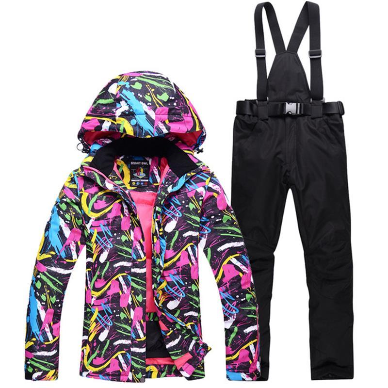 Artic Winter Outdoor Activities Ski Suit Women Ski Jacket And Snowsports Pants Women's Skiing Clothing Windproof Waterproof