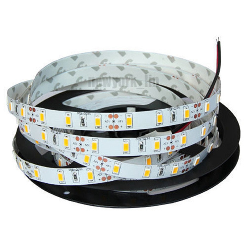 Flexible 5M Non Waterproof SMD 2835 300 LED White/Warm White LED Strip Light 12V DC Power Supply With Connect