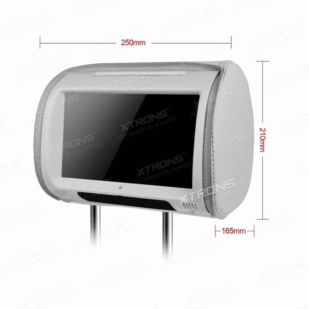 """XTRONS グレー 2X9 """"タッチスクリーン車のヘッドレスト DVD プレーヤーサポート USB と SD カード IR & FM トランスミッタ 32 ビットゲーム"""