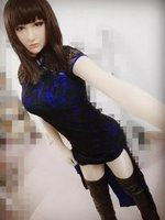 (CM2962)Handmade Silicone Sexy And Sweet Half Female Face Ching Crossdress Mask Crossdresser Doll