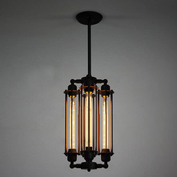 Loft style flute vintage pendant lamp creative bar for Art deco style lamp