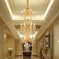 Европейский стиль люстра вилла комплекс зданий кристалл освещение Club Hotel лестница зал люстра роскошные хрустальные люстры светильники лоф...