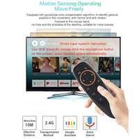 G10 2.4GHZ Fly Air Mouse 6-axis Giroscopio airmouse Con Vocale di Google per XIaoMi HTV 6 box H96 max X96mini MAG 254 256 TV Box