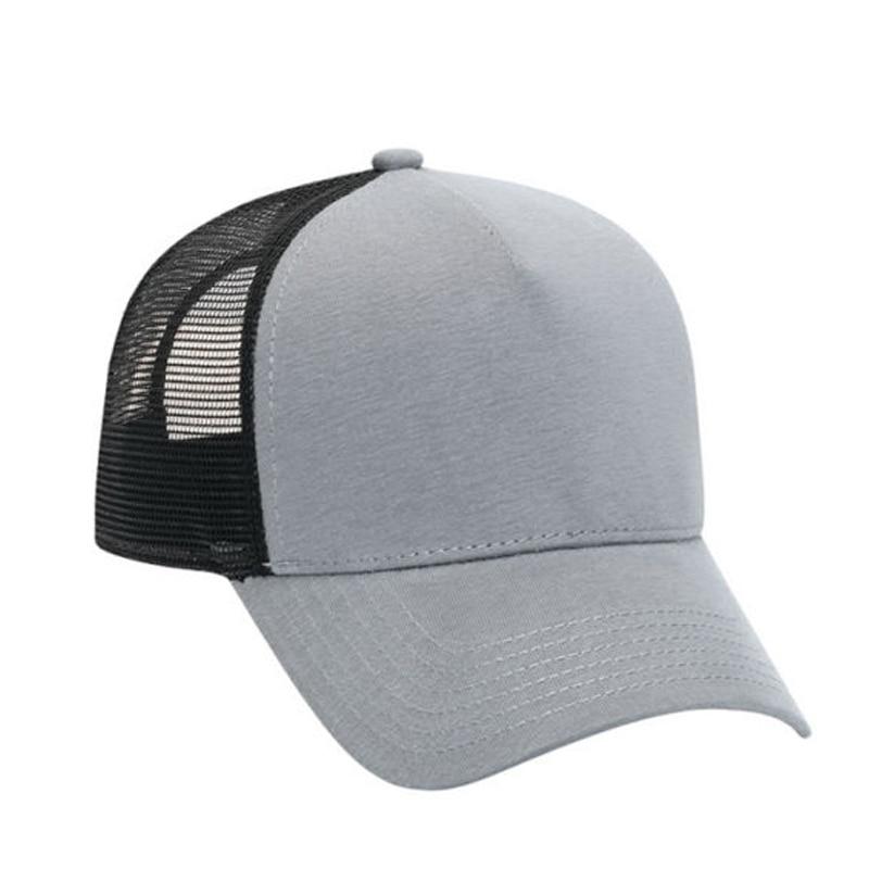 Cotton Flannel Trucker Hat With Adjustable Mesh Back Justin Bieber Gray BLACK Baseball Caps