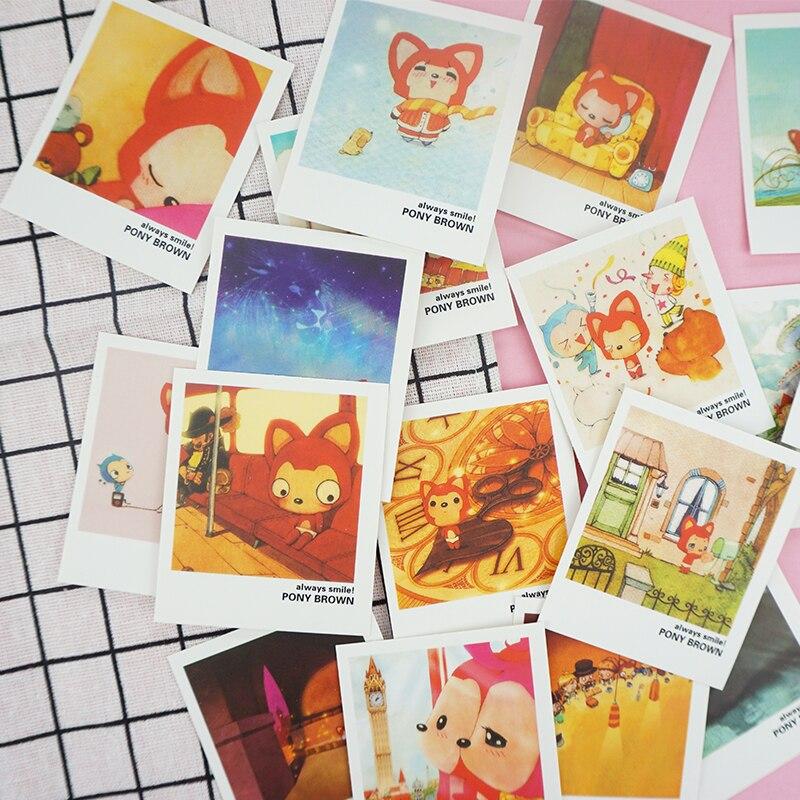 40 Pcs/lot Cute Civet Cats Mini Lomo Card Greeting Card Postcard Birthday Letter Envelope Gift Card Set