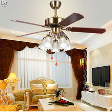 Continental Retro Dining Room Den Bedroom Ceiling Fan Light 52 Inch Ceiling  Fan With Light Leaf Ceiling Fans Rmy 0224