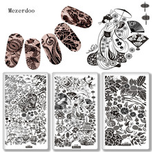 1PC Pretty Girl Nail Art Image Plate Cute Dog Multi Plants Fruit Designs Manicure Deco Owl Panda Patterns Stamp Template Plates