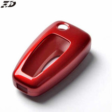Abs Key Case Shell lfor Ford Focus 3 Mk3 Mk4 Ranger Kuga Ecosport Edge Mondeo Titanium Car Key Cover 4 Colors Car-Styling