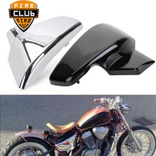 Черный Батарея боковую крышку мотоцикл для Honda VLX 600 1999-2008 VT 600 C CD Shadow VLX Deluxe STEED400 1999-2007