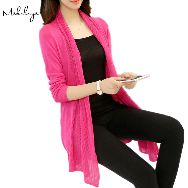 Makuluya Autumn Spring Fashion Women loose long sweater shawl section air-conditioned ca ...