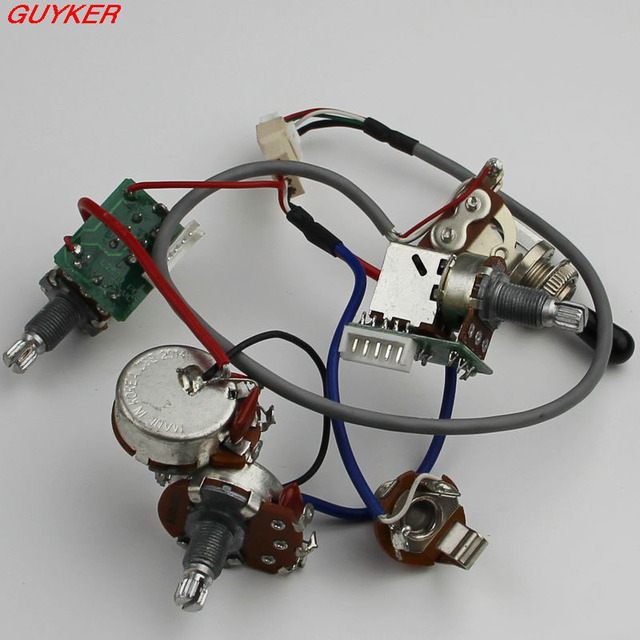 1 set lp sg guitar wiring harness push pull switch potentiometers no welding