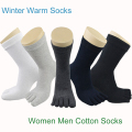 Winter Women Five Fingers Socks Men 2017 New Year Black Gray Khaki Art Happy Socks Funny Warm Floor Sokken Calcetines Meias Wool