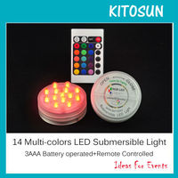 KITOSUN 14 Led Remote controlled Submersible Led Light Waterproof Candle Lamp Floralytes Decoration Floral Light Wedding Party