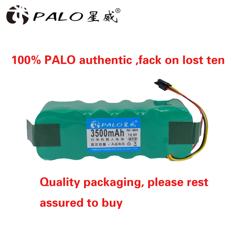 PALO Vacuum Cleaner Robot Environmentally Rechargeable Battery 14.4V Ni-MH 3500mAh Battery Pack for Dibea X500/X580 KK8 CR120