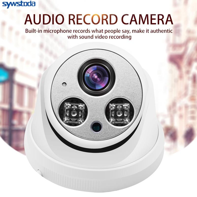 Internal Audio IP Camera 1080P 3MP 5MP Indoor Dome Surveillance Video Camera IP DC 12V 48V PoE Optional