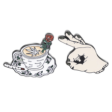 OK ! Circle Game Meme Hand Finger Hat Pin Horror Middle Rose Coffee Cup Emoticon Lapel pins Badges Brooches